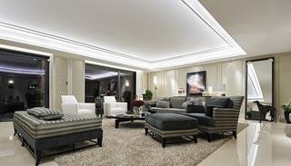 大气浪漫现代家装客厅装修设计图