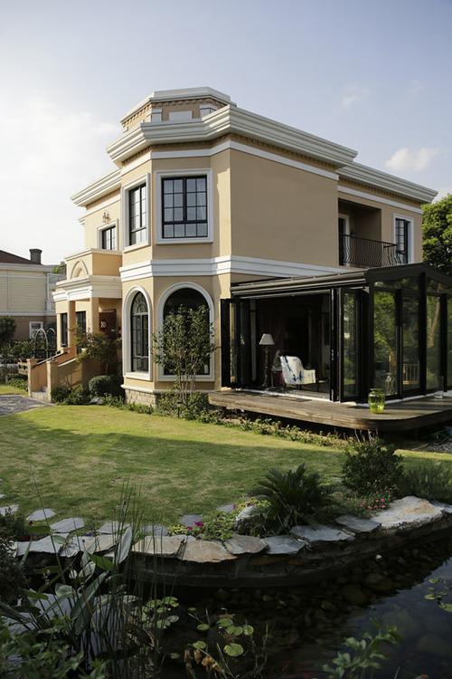 简欧风格独栋别墅入户花园设计装修图