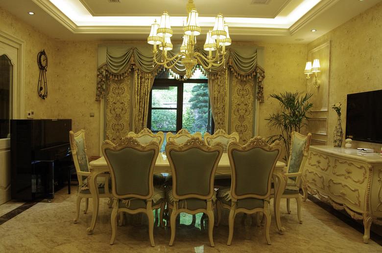 浪漫精致欧式宫廷风家装餐厅设计效果图