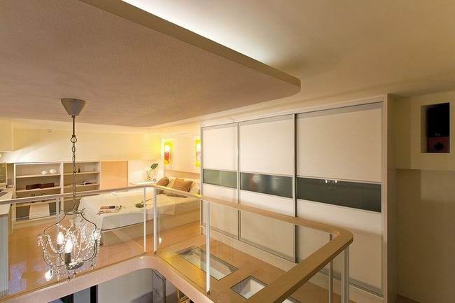 小户型跃层卧室过道简约衣柜设计