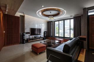 庄重大气后现代风格别墅室内装潢案例图