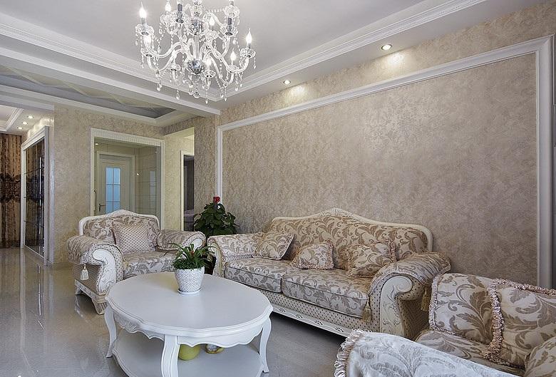 精致唯美简欧风格两室两厅装饰效果图