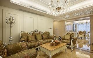 高贵华丽欧式风格大三居室内设计装修图