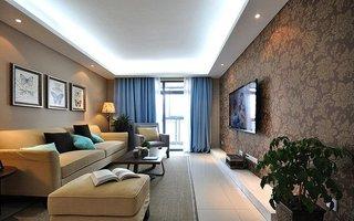 清新宜家设计风格三室两厅婚房装修案例图