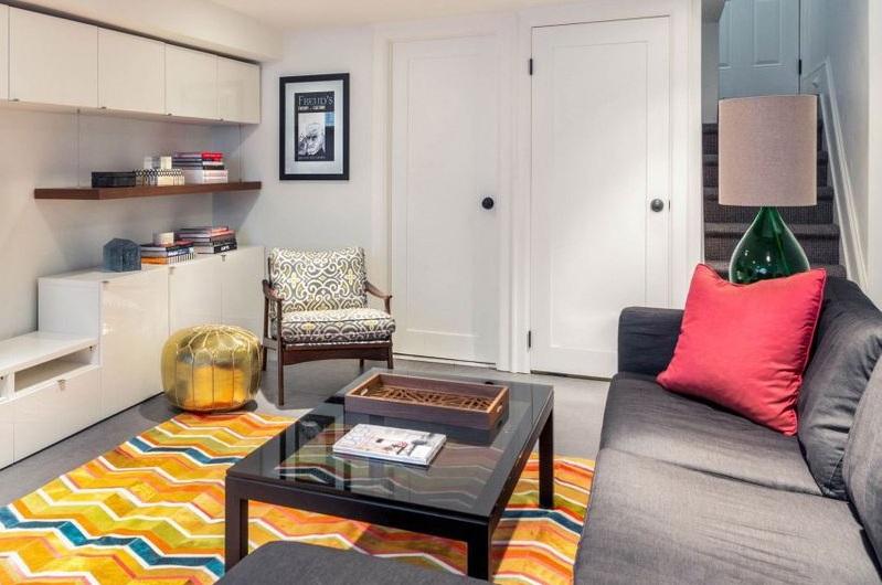 简约北欧带阁楼公寓客厅装修效果图