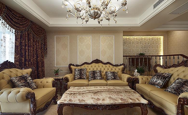 古典奢华欧式风格三居小跃层设计装修
