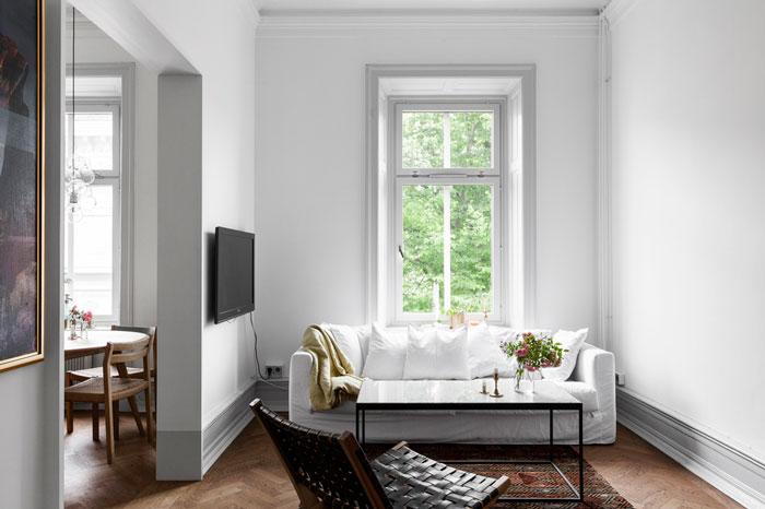 60平简约北欧风格小户型公寓设计装修图