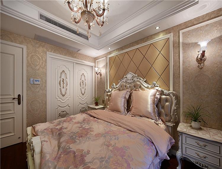 粉色精致浪漫欧式卧室设计装修效果图
