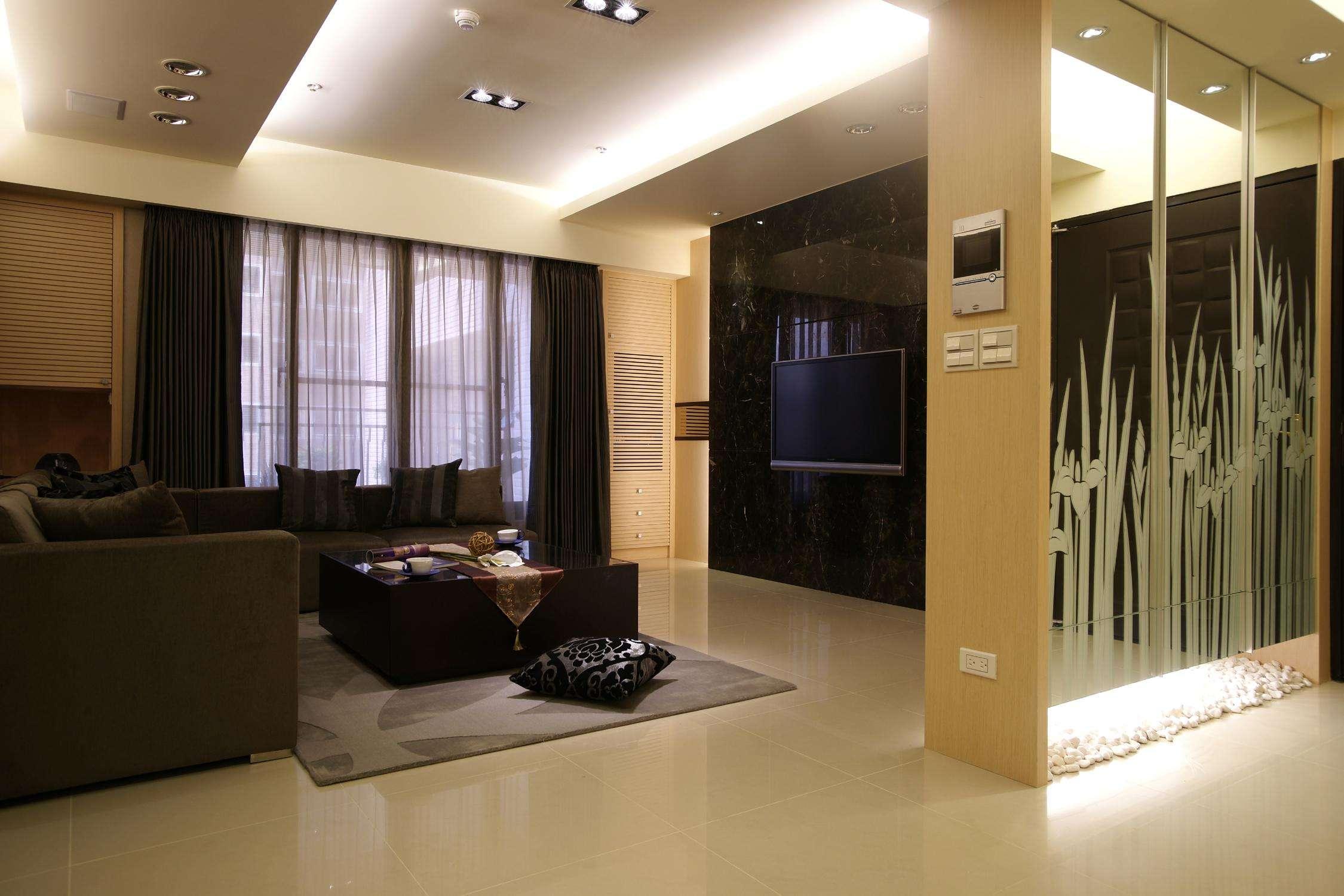 时尚现代风格客厅隔断设计装修图