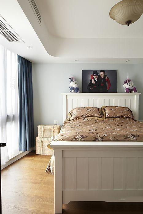 浪漫简约美式田园家装卧室软装效果图