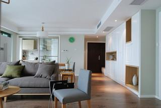 休闲舒适宜家北欧风格三居装潢效果图