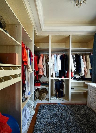 时尚大气现代衣帽间衣柜设计效果图
