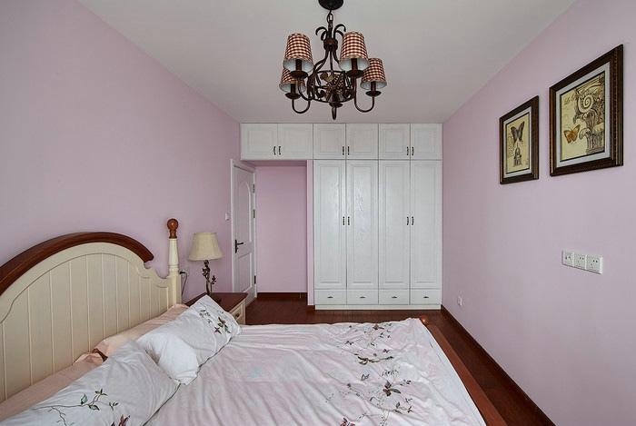 甜美粉色简约美式设计卧室效果图