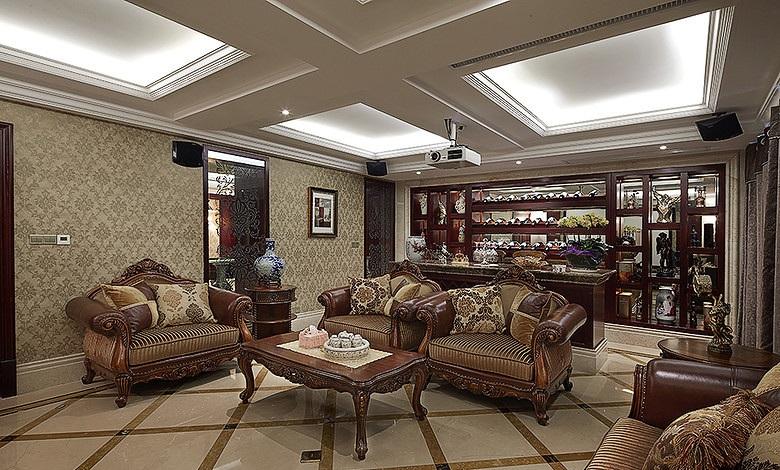 奢华欧式新古典家装客厅吊顶装潢大全