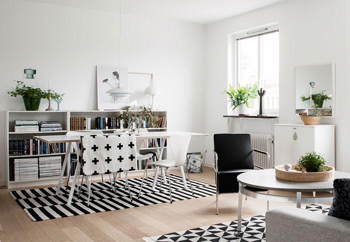 文艺小清新北欧风格小户型二居装修效果图