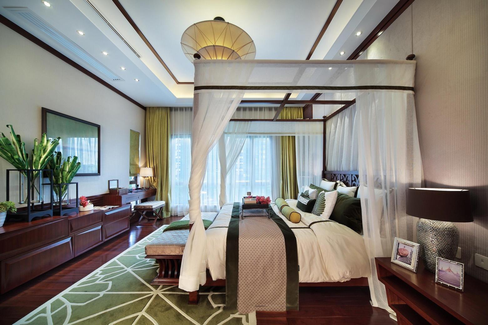 精美复古东南亚设计卧室效果图大全