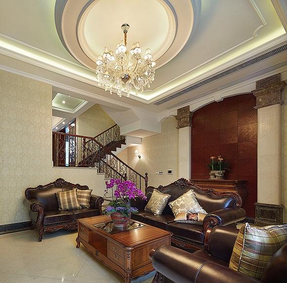 古典欧式风格别墅室内装潢效果图