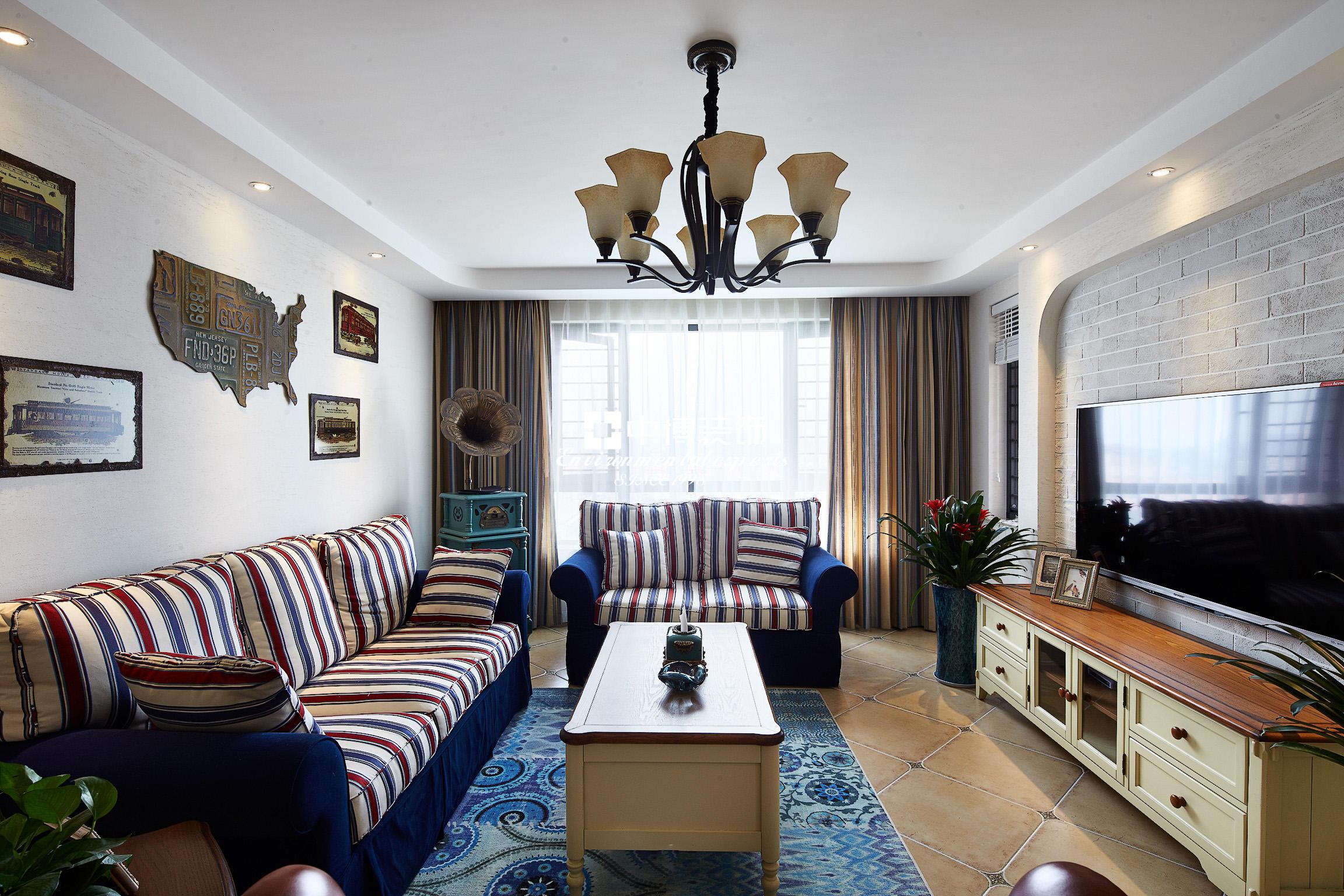 乡村地中海设计客厅效果图大全