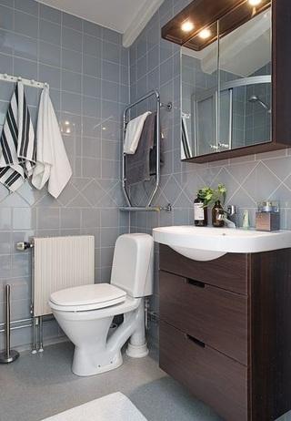四房豪华型卫生间浴室柜图片_齐家网装修效果图