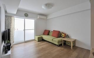 淡雅简洁小户型日式一居室家装设计图