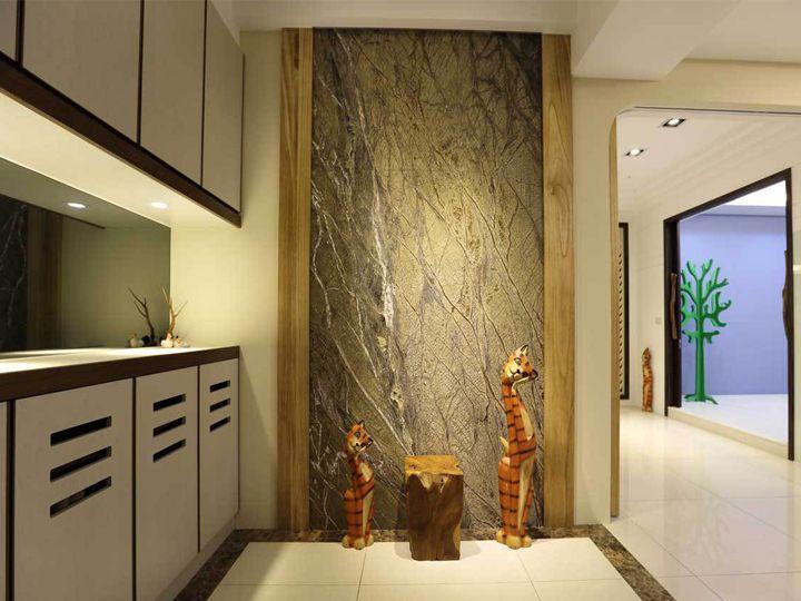 精简现代小户型单身公寓玄关鞋柜设计装潢图
