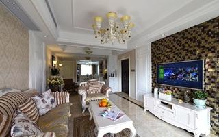 现代小资情调简欧风格两室两厅装修设计图