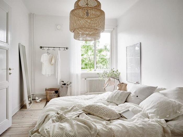 时尚自然北欧风格卧室装潢效果图