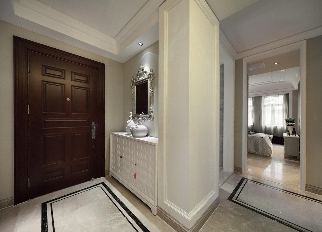 时尚现代简欧风格家装玄关柜设计