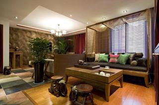 精致复古东南亚混搭三居装潢欣赏