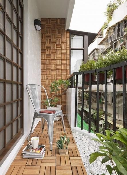 时尚现代家居阳台装潢效果图