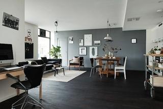 摩登现代北欧风格单身公寓室内设计装修效果图