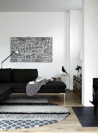 黑白简约北欧波普风格混搭二居设计