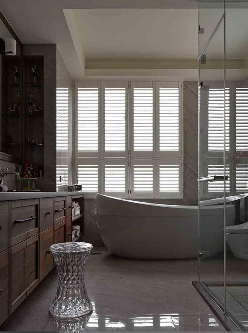 舒适低奢复古美式装修卫生间效果图大全