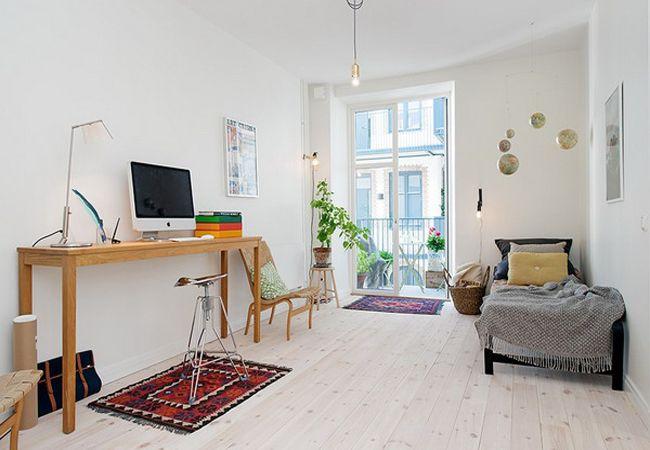 明亮小清新北欧风格单身公寓设计效果图片