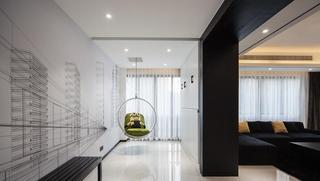 黑白简约公寓装饰美图