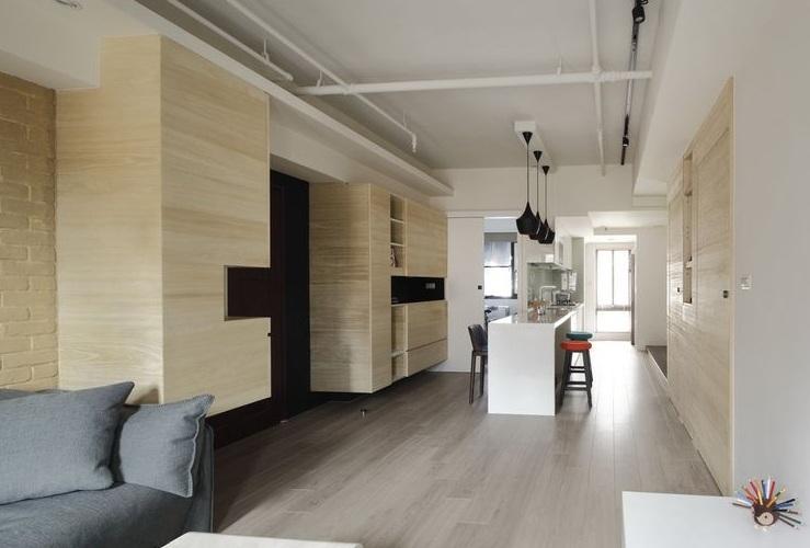 现代简约风格一居室餐厅效果图