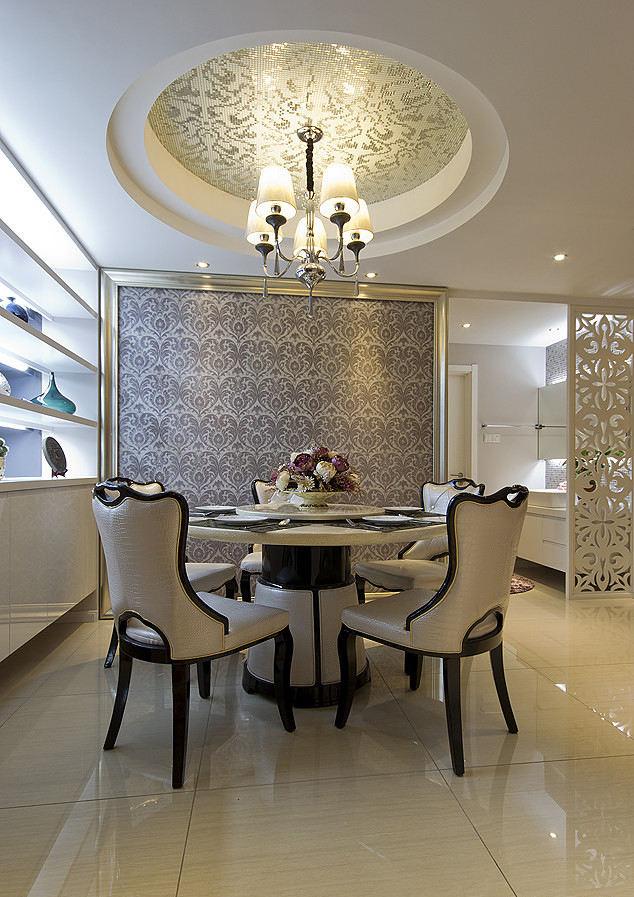 优雅精致美式餐厅背景墙效果图