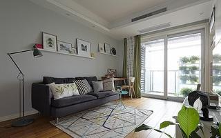 75平时尚小清新宜家装修小户型二居室设计