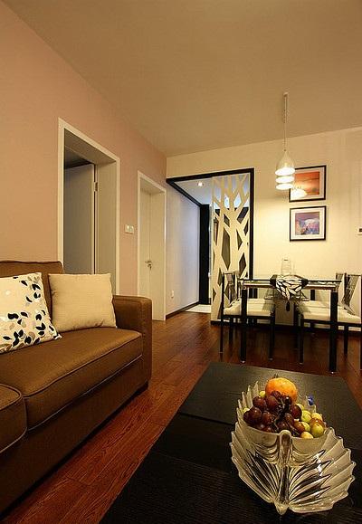 60平小户型二居室内现代时尚设计装修图