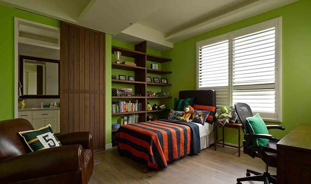 清新果绿色美式休闲风儿童房欣赏大全