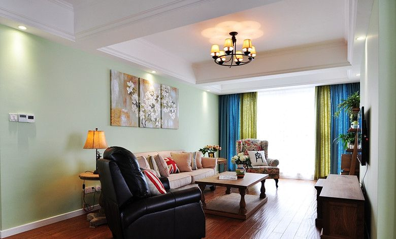 田园美式风格两室两厅装饰欣赏图