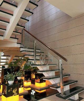 时尚现代中式混搭复式家装楼梯设计