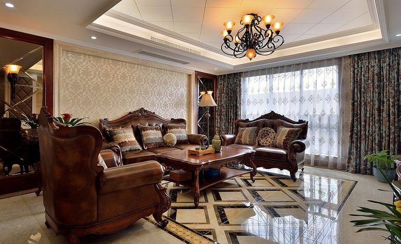 欧式古典奢华客厅红木家具装饰欣赏图