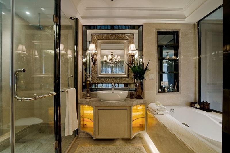 奢华精致美式家装卫生间干湿分区设计