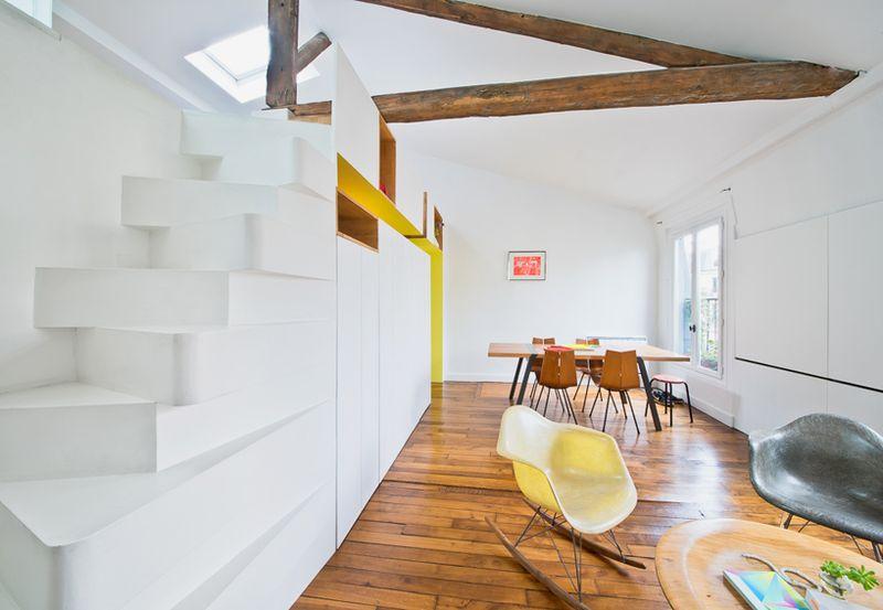 小户型复式客厅简约设计创意楼梯