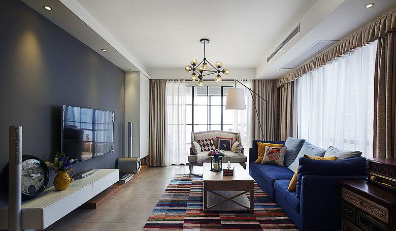 经典美式家装三居客厅设计效果图大全