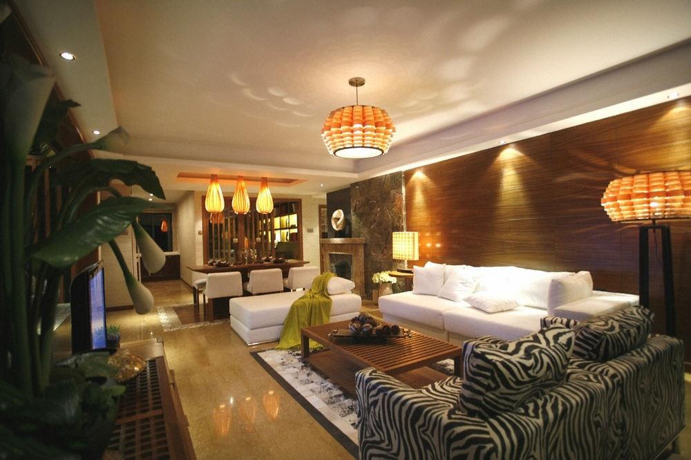 沉稳东南亚设计客餐厅效果图大全