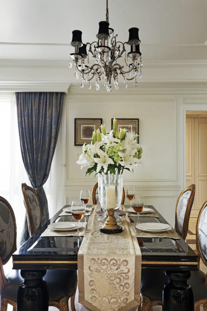 精美复古美式餐厅吊灯效果图