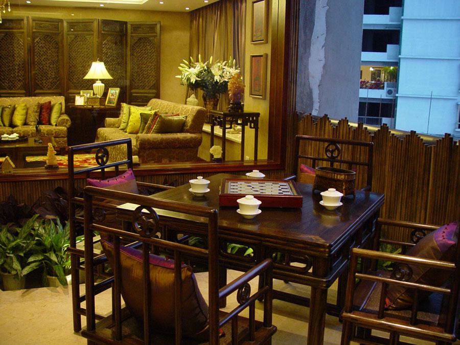 古典中式装修风格家居茶室设计图