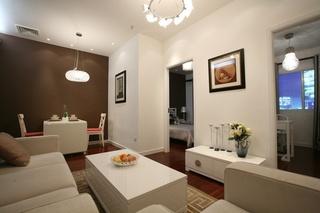70平小户型现代中式装修风格单身公寓借鉴案例